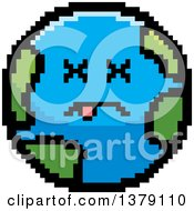 Clipart Of A Dead Earth Character In 8 Bit Style Royalty Free Vector Illustration by Cory Thoman