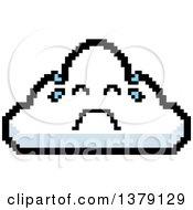 Crying Cloud Character In 8 Bit Style