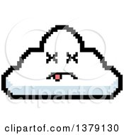 Dead Cloud Character In 8 Bit Style