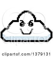 Clipart Of A Grinning Evil Cloud Character In 8 Bit Style Royalty Free Vector Illustration