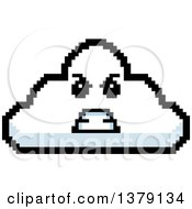 Mad Cloud Character In 8 Bit Style