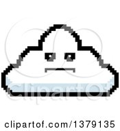 Clipart Of A Serious Cloud Character In 8 Bit Style Royalty Free Vector Illustration