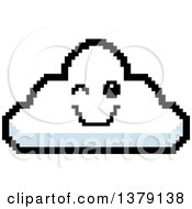 Winking Cloud Character In 8 Bit Style