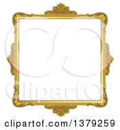Clipart Of A Vintage Ornate Gold Picture Frame Royalty Free Vector Illustration by merlinul