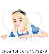 Alice In Wonderland Over A Sign