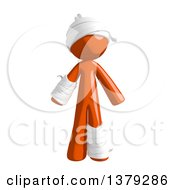 Clipart Of An Injured Orange Man Royalty Free Illustration by Leo Blanchette