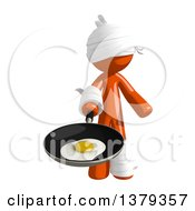 Injured Orange Man Frying An Egg