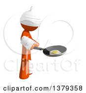 Clipart Of An Injured Orange Man Frying An Egg Royalty Free Illustration by Leo Blanchette
