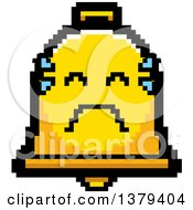 Clipart Of A Crying Bell Character In 8 Bit Style Royalty Free Vector Illustration