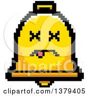 Clipart Of A Dead Bell Character In 8 Bit Style Royalty Free Vector Illustration