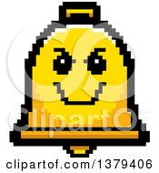 Clipart Of A Grinning Evil Bell Character In 8 Bit Style Royalty Free Vector Illustration