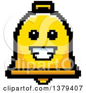 Clipart Of A Happy Bell Character In 8 Bit Style Royalty Free Vector Illustration by Cory Thoman