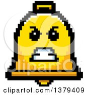 Clipart Of A Mad Bell Character In 8 Bit Style Royalty Free Vector Illustration by Cory Thoman