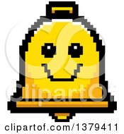 Clipart Of A Happy Bell Character In 8 Bit Style Royalty Free Vector Illustration