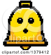 Clipart Of A Serious Bell Character In 8 Bit Style Royalty Free Vector Illustration by Cory Thoman