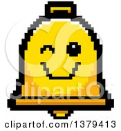 Clipart Of A Winking Bell Character In 8 Bit Style Royalty Free Vector Illustration