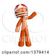 Orange Man Football Player Waving