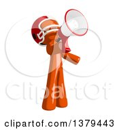 Clipart Of An Orange Man Football Player Using A Megaphone Royalty Free Illustration by Leo Blanchette