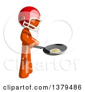 Orange Man Football Player Frying An Egg