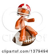 Clipart Of An Orange Man Football Player Sitting On A Ball Royalty Free Illustration by Leo Blanchette