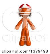 Clipart Of An Orange Man Football Player Royalty Free Illustration