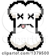 Clipart Of A Dead Bone Character In 8 Bit Style Royalty Free Vector Illustration