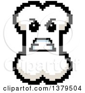 Clipart Of A Mad Bone Character In 8 Bit Style Royalty Free Vector Illustration