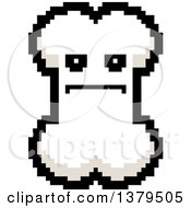Clipart Of A Serious Bone Character In 8 Bit Style Royalty Free Vector Illustration
