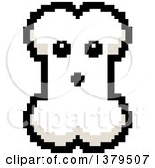 Clipart Of A Surprised Bone Character In 8 Bit Style Royalty Free Vector Illustration