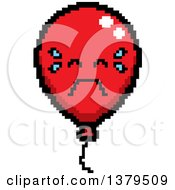 Clipart Of A Crying Party Balloon Character In 8 Bit Style Royalty Free Vector Illustration