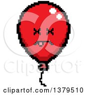Clipart Of A Dead Party Balloon Character In 8 Bit Style Royalty Free Vector Illustration