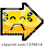 Clipart Of A Crying Arrow In 8 Bit Style Royalty Free Vector Illustration by Cory Thoman
