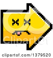 Clipart Of A Dead Arrow In 8 Bit Style Royalty Free Vector Illustration by Cory Thoman