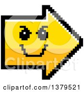 Clipart Of A Grinning Evil Arrow In 8 Bit Style Royalty Free Vector Illustration
