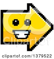 Clipart Of A Grinning Arrow In 8 Bit Style Royalty Free Vector Illustration