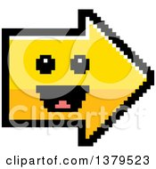Clipart Of A Happy Arrow In 8 Bit Style Royalty Free Vector Illustration