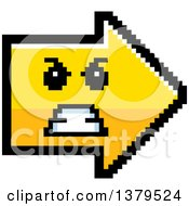 Clipart Of A Mad Arrow In 8 Bit Style Royalty Free Vector Illustration by Cory Thoman