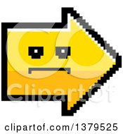 Clipart Of A Serious Arrow In 8 Bit Style Royalty Free Vector Illustration