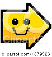 Clipart Of A Happy Smiling Arrow In 8 Bit Style Royalty Free Vector Illustration