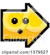 Clipart Of A Surprised Arrow In 8 Bit Style Royalty Free Vector Illustration by Cory Thoman