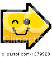 Clipart Of A Winking Arrow In 8 Bit Style Royalty Free Vector Illustration