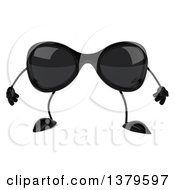Clipart Of A 3d Sunglasses Character On A White Background Royalty Free Illustration by Julos