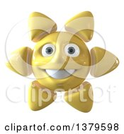 Clipart Of A 3d Sun Character On A White Background Royalty Free Illustration by Julos