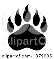 Clipart Of A Black And White Grizzly Bear Paw Royalty Free Vector Illustration by Hit Toon