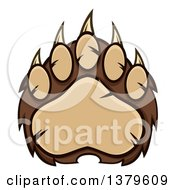 Clipart Of A Grizzly Bear Paw Royalty Free Vector Illustration