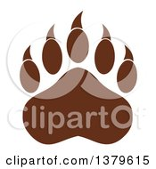 Clipart Of A Brown Grizzly Bear Paw Royalty Free Vector Illustration by Hit Toon
