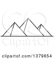 Clipart Of Grayscale Egyptian Pyramids Royalty Free Vector Illustration
