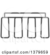 Clipart Of A Grayscale Stonehenge Royalty Free Vector Illustration
