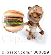 3d Tiger On A White Background