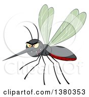 Clipart Of A Grinning Evil Mosquito Royalty Free Vector Illustration by Hit Toon
